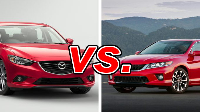 honda accord vs mazda mazda6 carsdirect. Black Bedroom Furniture Sets. Home Design Ideas