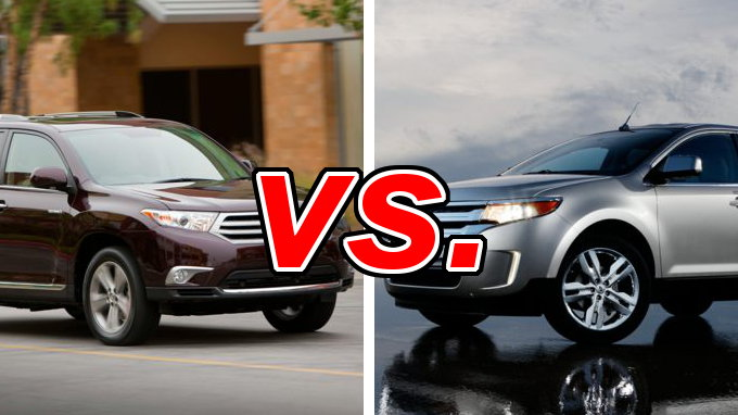 Used Ford Edge For Sale >> Toyota Highlander vs. Ford Edge - CarsDirect