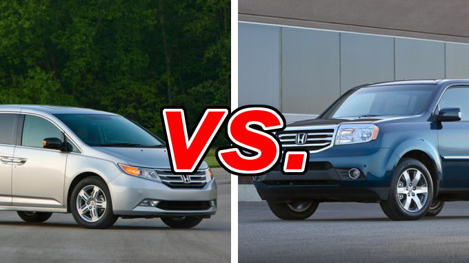 Honda odyssey vs honda pilot carsdirect for Honda pilot vs