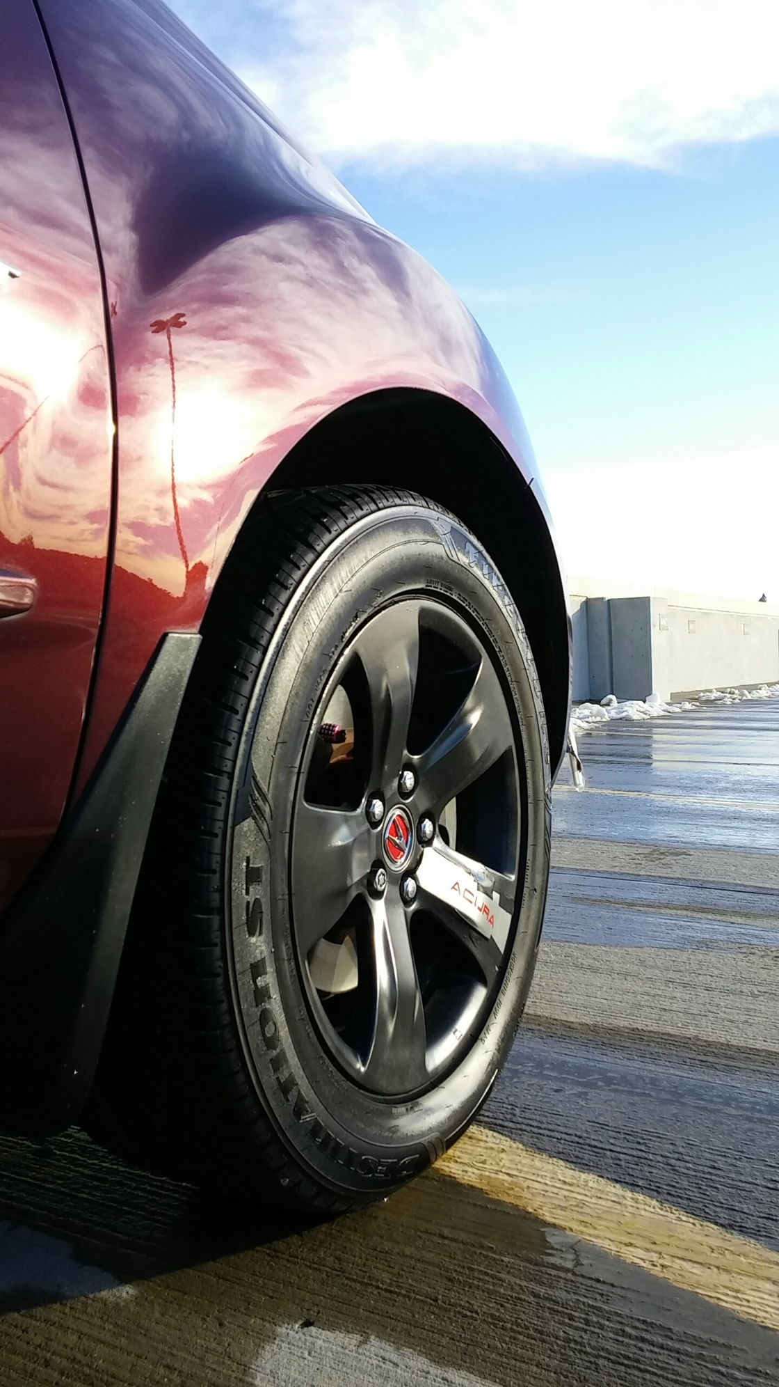 This is what i did i plastidipped the stock rims on the sport model 08 dark cherry pearl mdx here btw follow me on instagram oukshay i post pics of my