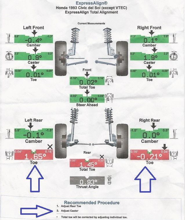 1993 Honda Del Sol Si 1 6l Rear Toe Adjustment Honda Tech