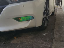 Added some neon yellow film to the fogs.