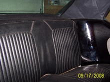 original rear seat and upholstery