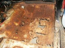 the horrible rust in the floor pans