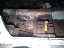 started removing floor pans
