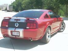 Rear: Stripes, SHR Decklid Panel, Flowmaster Series 40's w/ Chrome Tips