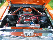 1965 Mustang fastback engine compartment