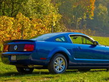 Mustang SS (Sabine's Stang) on 26 Oct 2008 with Silver Horse Racing Honeycomb Taillight Panel