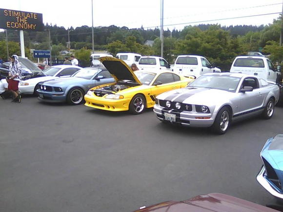 M ustang rally, Tigard Oregon. They said 'legal speeds', but what happens if you make a wrong turn, uh huh; make up some time'. Way fun.