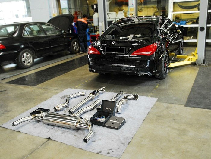 Mercedes benz cla45 amg x armytrix valvetronic exhaust for Mercedes benz aftermarket performance parts