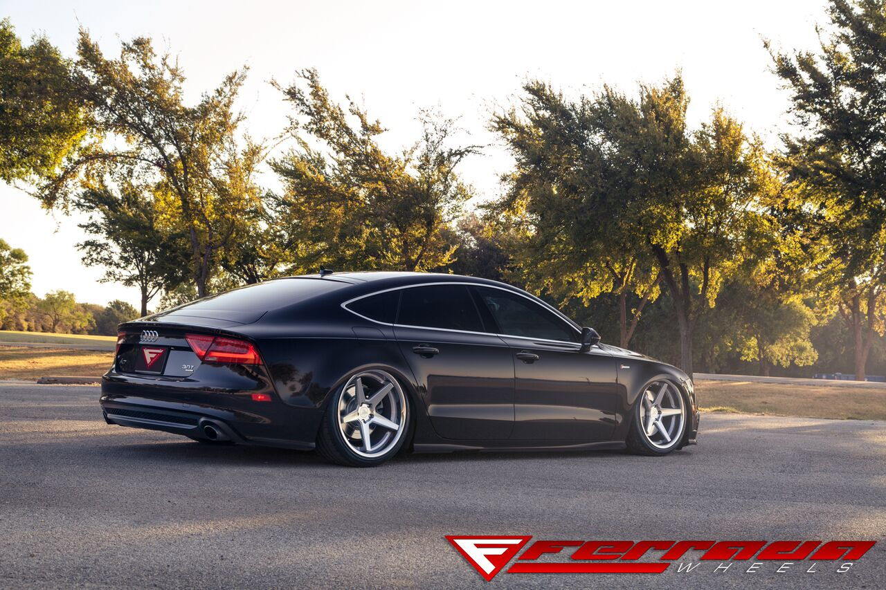 2014 Audi A7 Sitting Low on a Set of Ferrada FR3 20x10.5 Square   Your Thought's