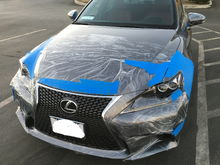 Road wrap and 3m tape