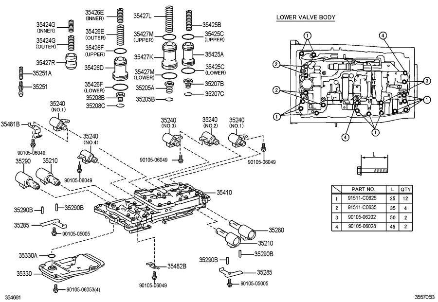 lexus transmission shift solenoid d location