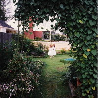My twins in First garden over 20 yrs ago.