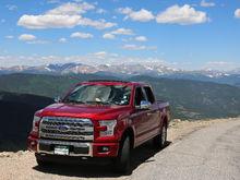 Mt. Evans,  14,264 ft.  Highway is 14,130 FT. July 2016 Colorado