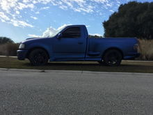 Sapphire Blue Candy Pearl Plasti Dip. 5 Coats of matte black base and 10 coats of Blue