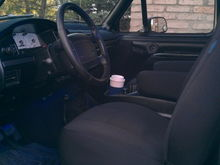 after added buckets and center console