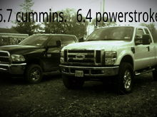 My best friends dodge and my ford