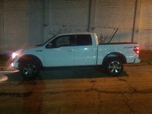 After the frontend leveling kit. A bit blurry will get a better one tomorrow.