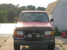Before I worked on truck, computer went bad and paint was faded, also had dents all over it.