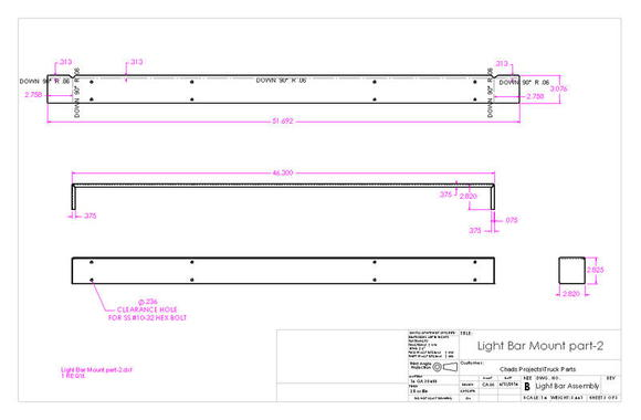 Light Bar Assembly drawing page 3 of 3