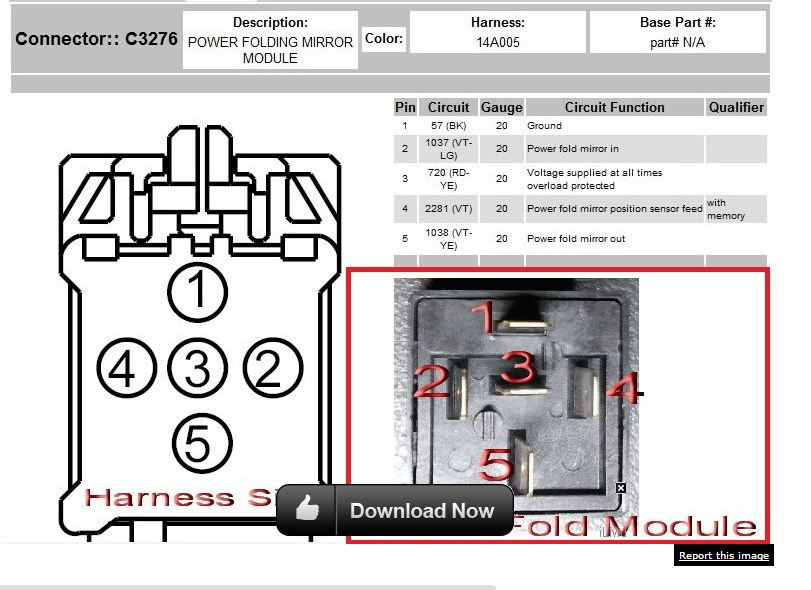 wiring diagram for ford power fold mirrors power window
