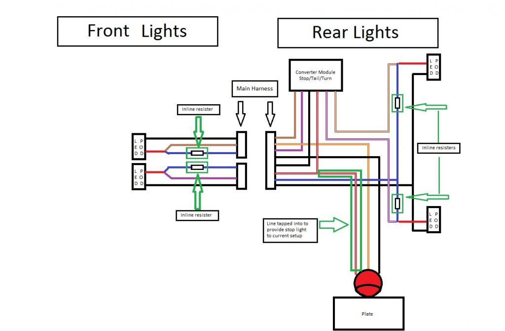 Harley Tail Light Wiring Diagram | Wiring Diagram Echo on