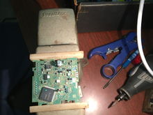 PC Board before switch reattached.