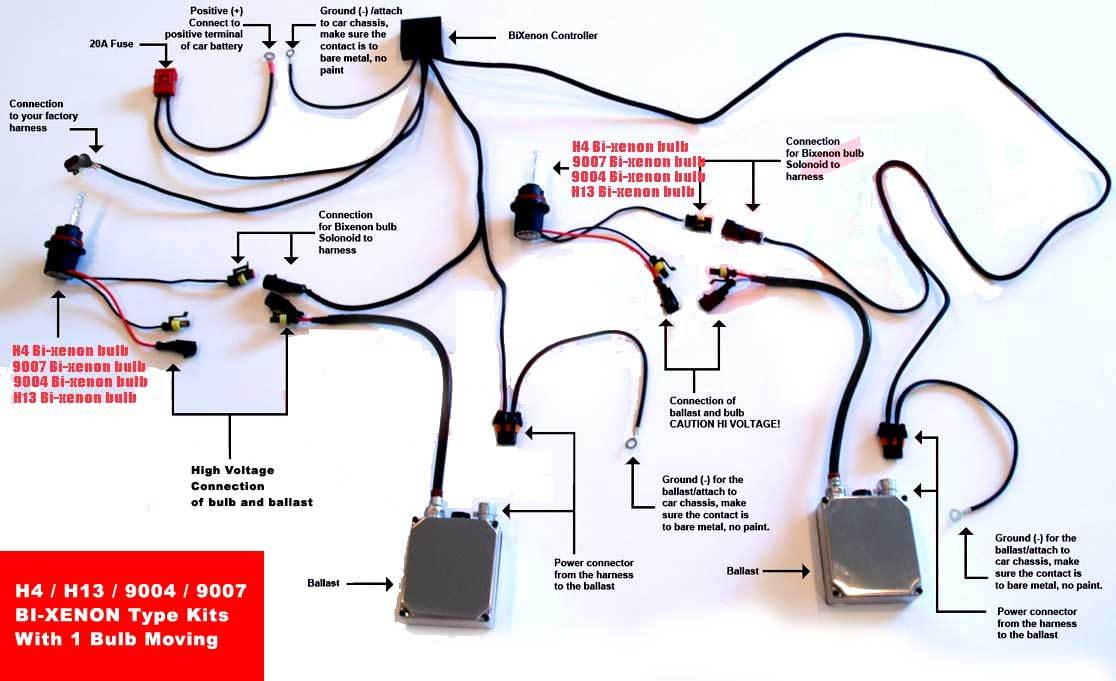 need help wiring up quad bi xenon retrofit projectors. Black Bedroom Furniture Sets. Home Design Ideas