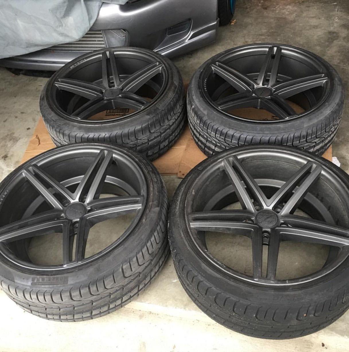 FS: Vossen CV5 20x10.5+45mm 5x120 Tires Are 255/35/20
