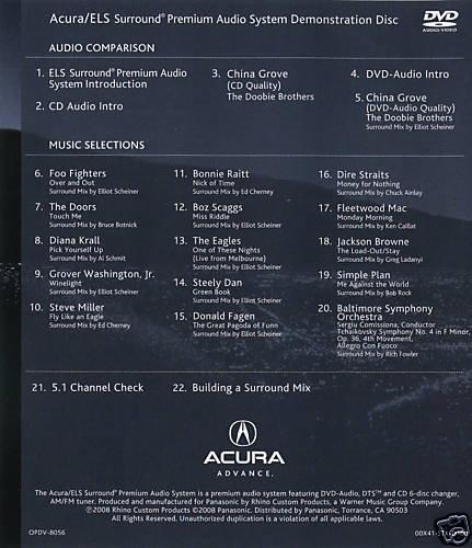 Acura ELS Surround Demo Disc