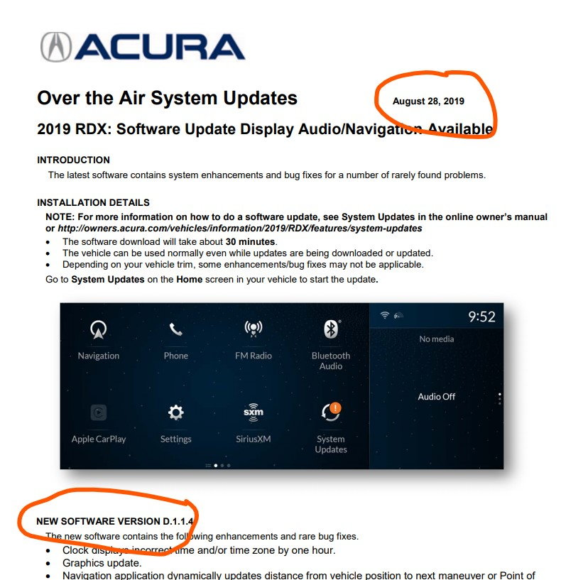 Over The Air (OTA) Software Update D.1.1.4
