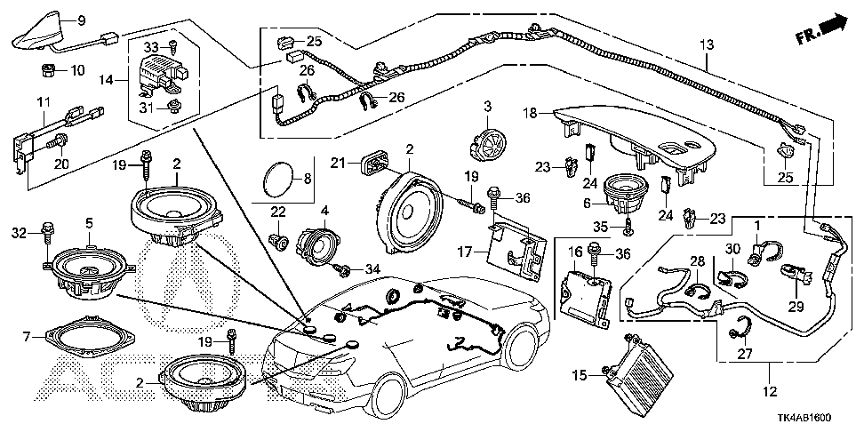 2009 honda civic speaker wiring diagram