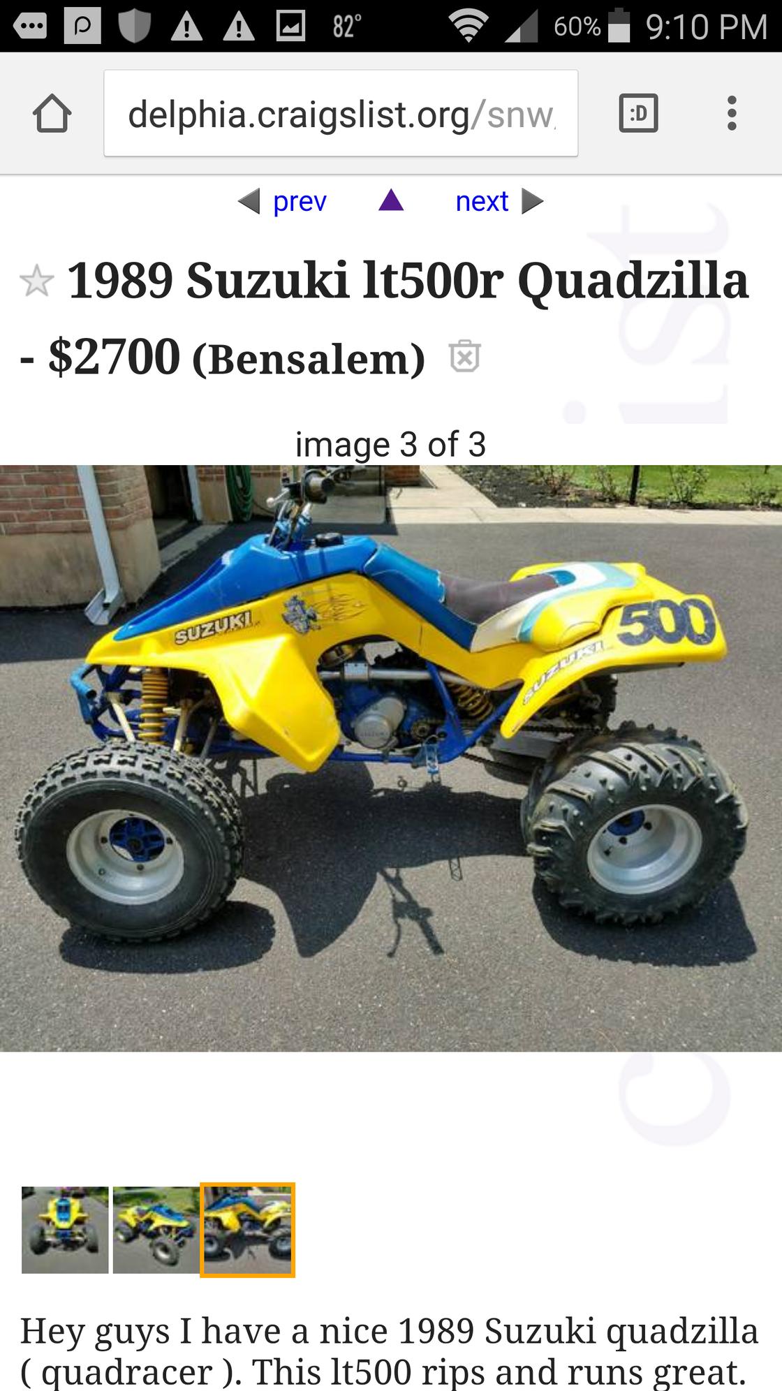 Suzuki Quadzilla Sale Craigslist
