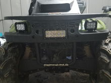 New lights and rad mount completed. Now in the process of installing the winch.