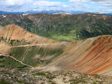 Red Cone summit with Webster Pass and Radical Hill in the background