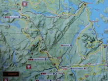 topo map showing our route- the pink line shows the route we followed! 185 miles!!!!