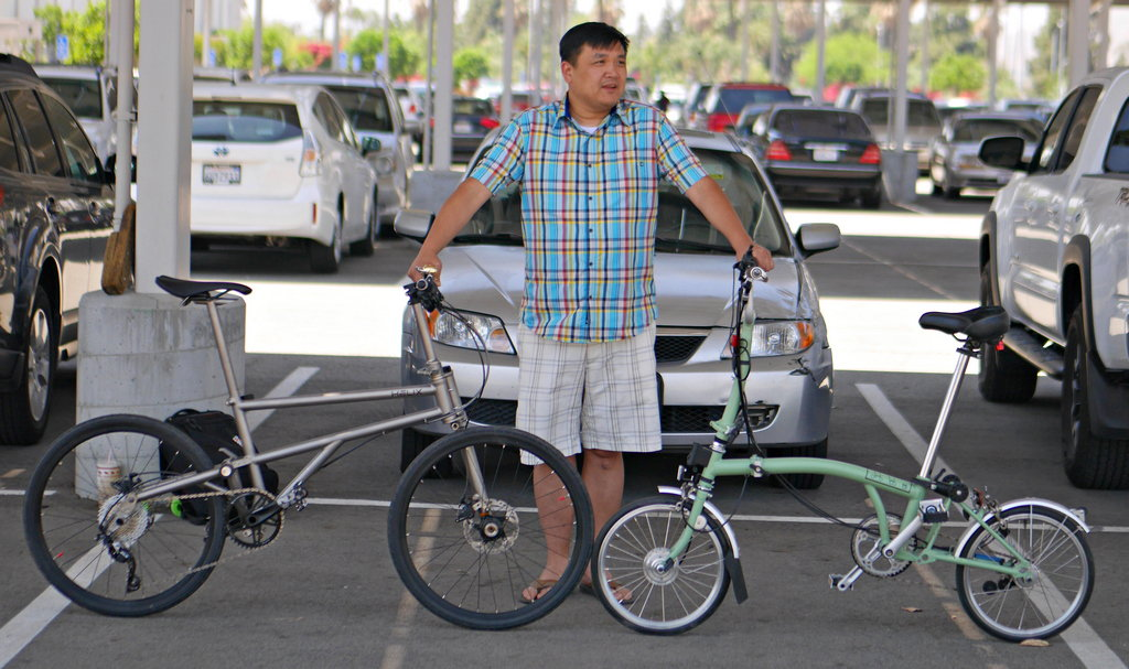 Pictures: Helix & Brompton Side by Side - Bike Forums