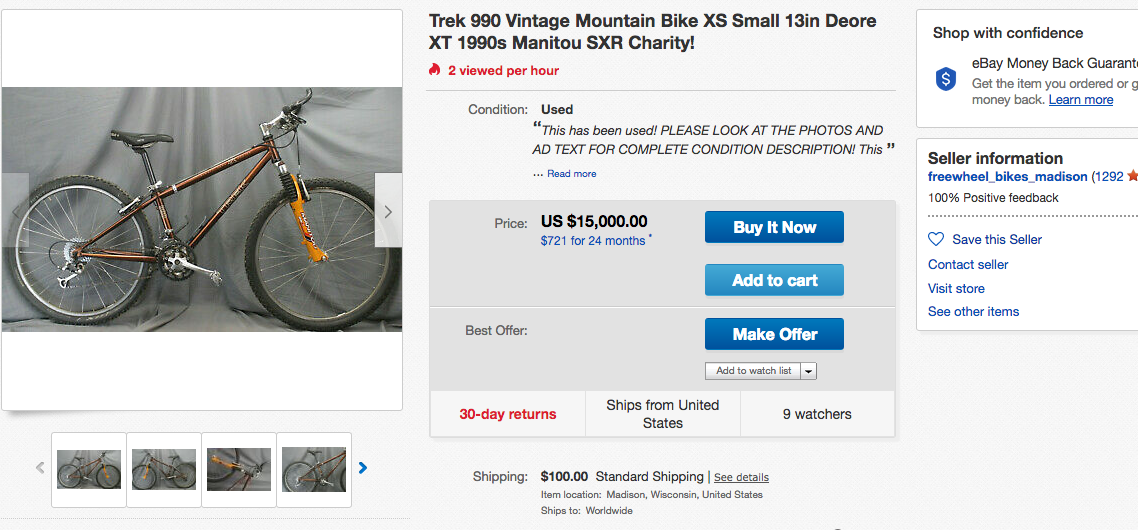 The Wacky World of Craigslist and eBay Ads - Page 686 - Bike Forums