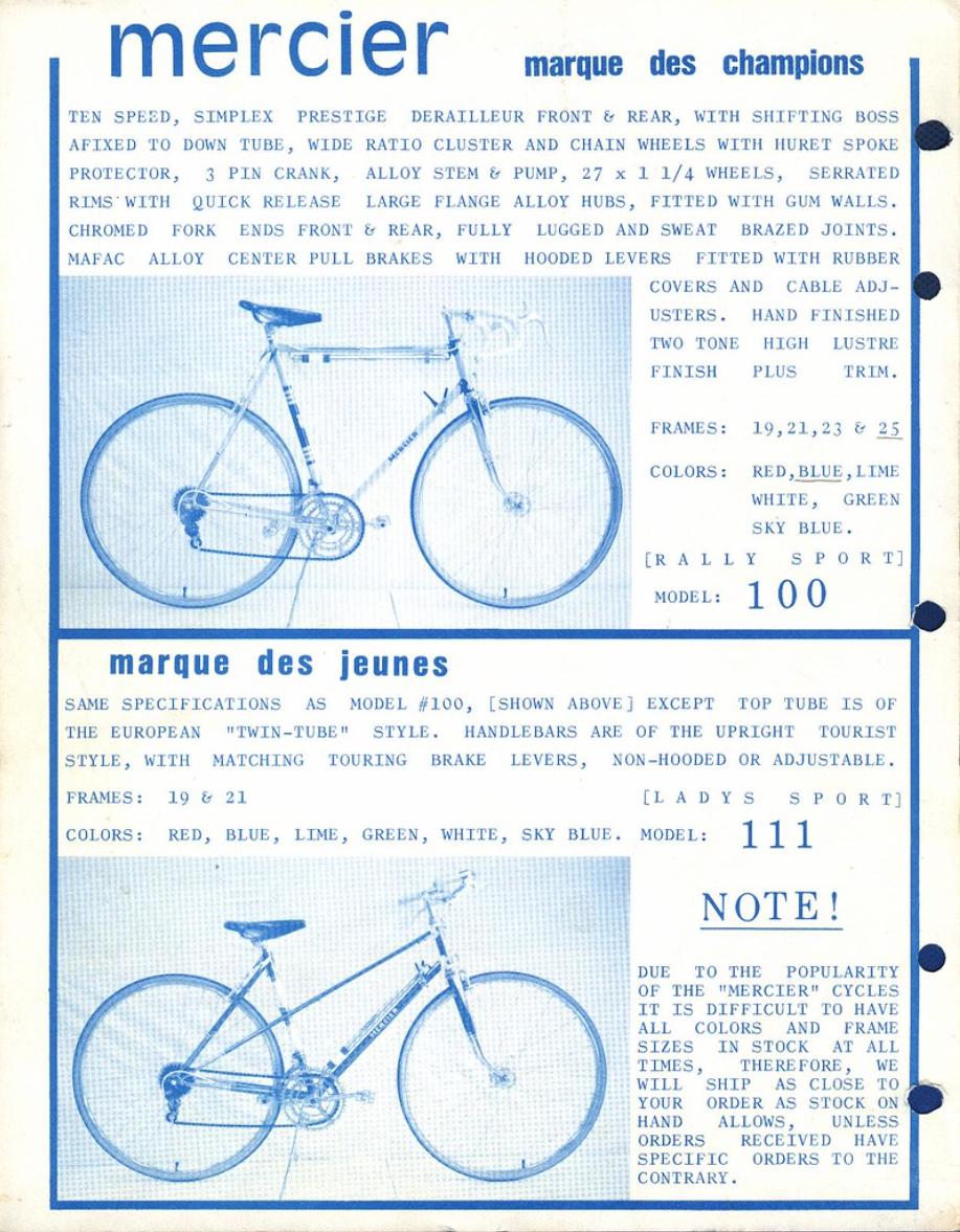 Transfers n.03 Decals Mercier Bicycle Frame Stickers