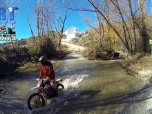 water crossing with Dirt Bike Holidays