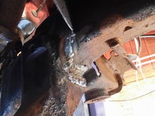 Not the best welder to weld upside down but I got some good penetration should be better than stock