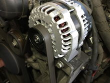 The new alternator in place, I wish it would stay clean like that, lol.