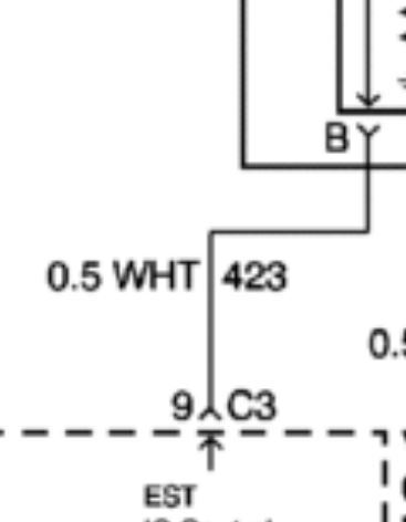 98 blazer no power to crankshaft position sensor wiring diagram i understand that wht means that it s a white wire and that 423 is identifying the circuit component system it lives in but what does the 0 5 mean