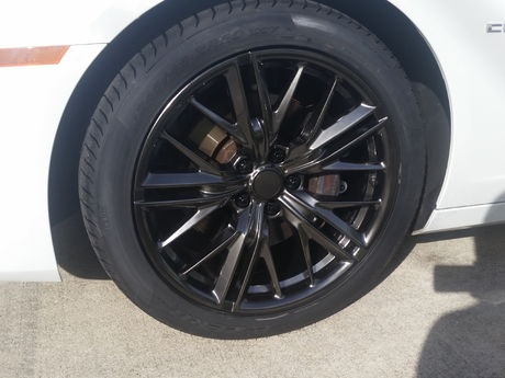 Close Up 2017 ZL1 Wheels on 2012 Camaro SS