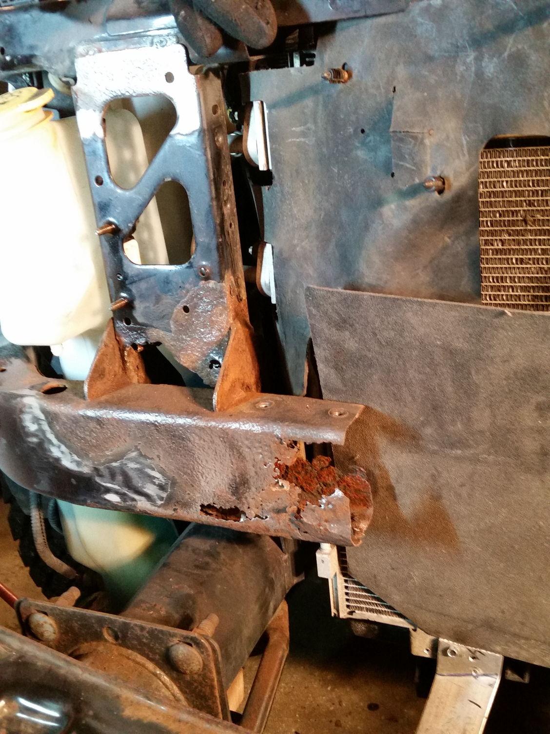Lower Radiator Support Rust Issue Dodgeforum Com