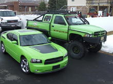 Fraternal Twins.  07 Daytona and Dodge T-Rex