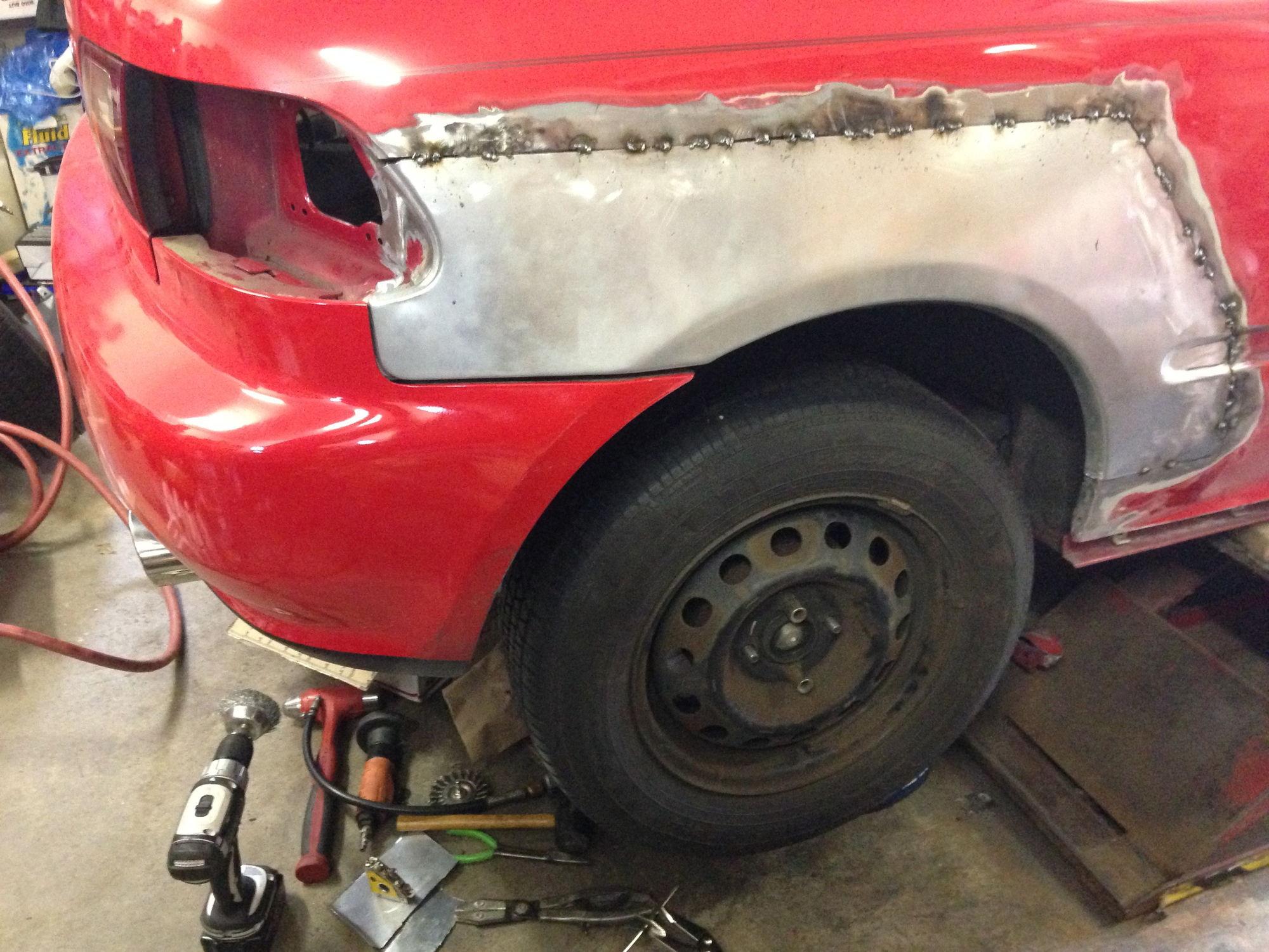Quarter Panel Rust Repair Eh2 Issues Honda Tech Honda