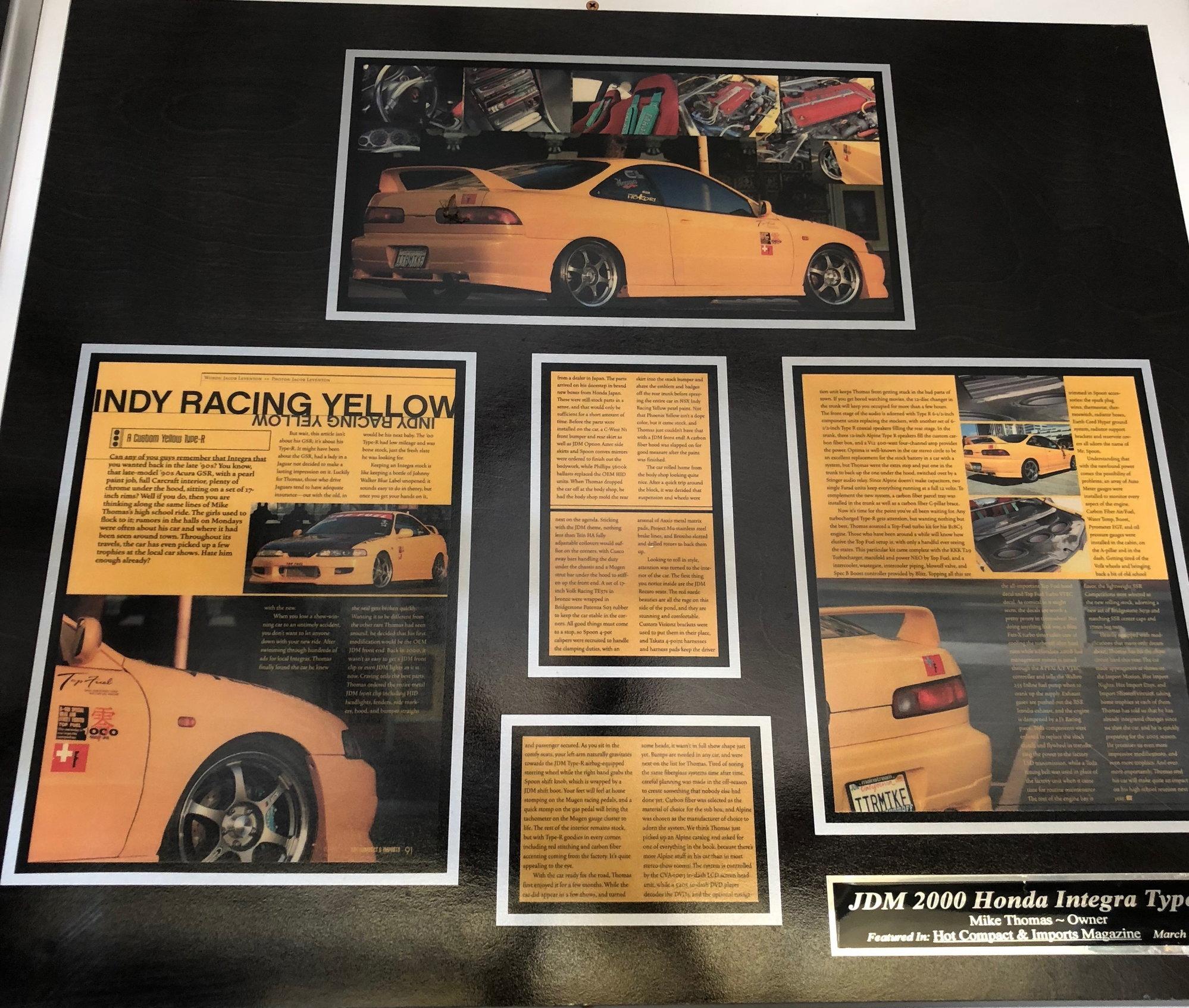 CA FS 2000 Acura Integra Type R
