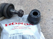 Part number 53546-S84-003 cost $2 each (plus shipping) from Majestic Honda.